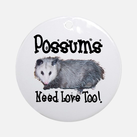 Possums Need Love Ornament (Round)