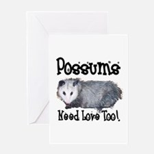 Possums Need Love Greeting Card