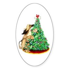 Afghan Hound BMRed ReachGoals Oval Decal