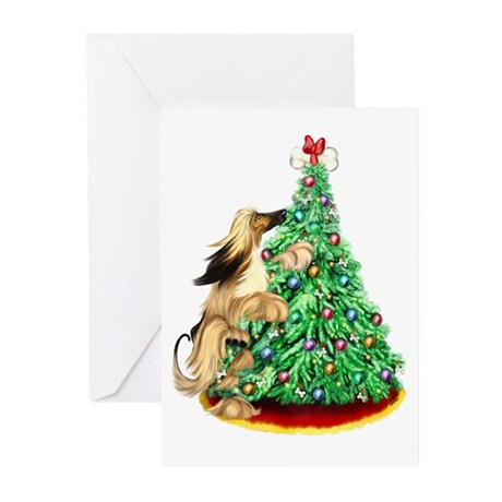 Afghan Hound BMRed ReachGoals Greeting Cards (Pack