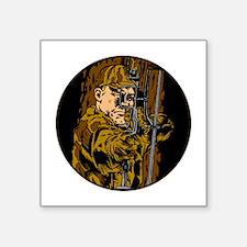 "Camouflage Bow Hunter Square Sticker 3"" x 3"""