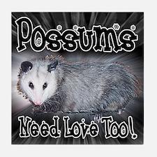 Possums Need Love Tile Coaster