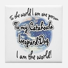 Catahoula World2 Tile Coaster