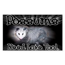 Possums Need Love Rectangle Decal