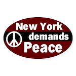New York Demands Peace Oval Sticker