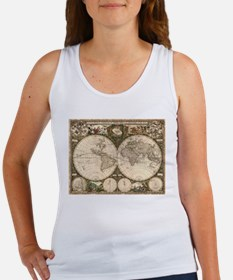 Vintage Map of The World (1660) Tank Top