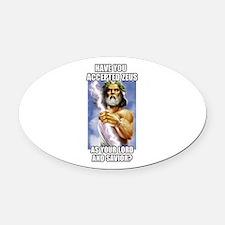 Zeus Oval Car Magnet