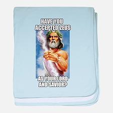 Zeus baby blanket