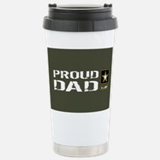 U.S. Army: Proud Dad (M Stainless Steel Travel Mug