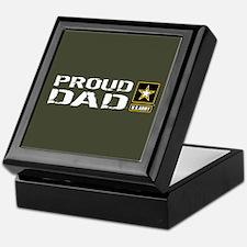 U.S. Army: Proud Dad (Military Green) Keepsake Box
