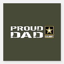 "U.S. Army: Proud Dad (Mi Square Car Magnet 3"" x 3"""