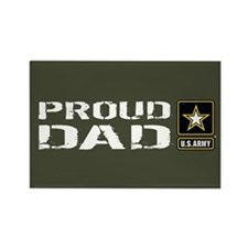 U.S. Army: Proud Dad ( Rectangle Magnet (100 pack)