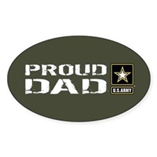 U.S. Army: Proud Dad (Military Gree Decal