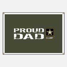 U.S. Army: Proud Dad (Military Green) Banner