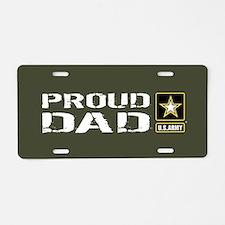 U.S. Army: Proud Dad (Milit Aluminum License Plate
