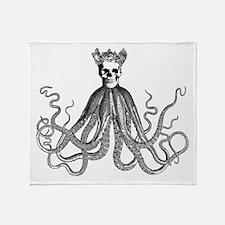 King Octoskull Throw Blanket