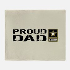 U.S. Army: Proud Dad (Sand) Throw Blanket