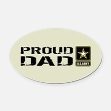 U.S. Army: Proud Dad (Sand) Oval Car Magnet