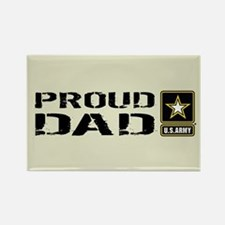 U.S. Army: Proud Dad (Sand) Rectangle Magnet
