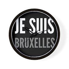 JE SUIS BRUXELLES Wall Clock
