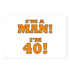 I'm a Man! I'm 40! Postcards (Package of 8)