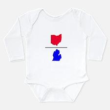 Ohio over Michigan Infant Creeper Body Suit
