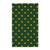 3x5 green and yellow polka dot area Area Rugs
