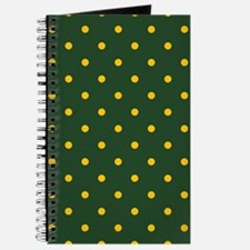 Polka Dot Pattern: Yellow & Green Journal