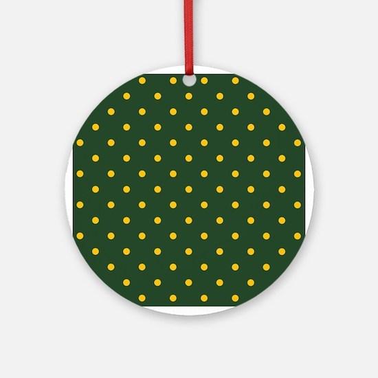 Polka Dot Pattern: Yellow & Green Round Ornament