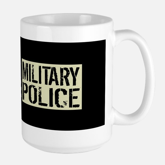U.S. Military: Military Police (Black F Large Mug