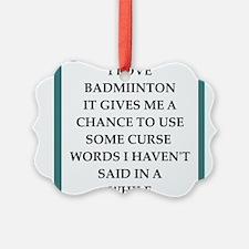 badminton Ornament