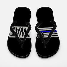 Police: SWAT (Black Flag Blue Line) Flip Flops