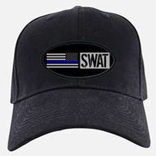Police: SWAT (Black Flag Blue Line) Baseball Hat
