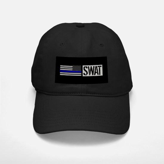 Police: SWAT (Black Flag Blue Line) Baseball Hat