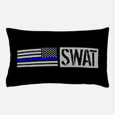 Police: SWAT (Black Flag Blue Line) Pillow Case