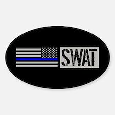 Police: SWAT (Black Flag Blue Line) Decal