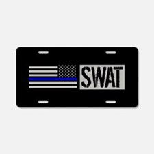 Police: SWAT (Black Flag Bl Aluminum License Plate