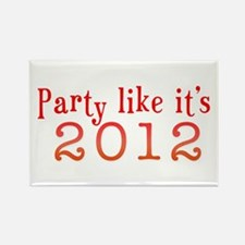 2012 Party Rectangle Magnet