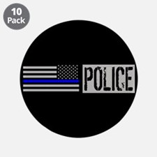 "Police: Police (Black Flag, 3.5"" Button (10 pack)"