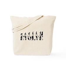 Climbing Evolution Caveman Tote Bag