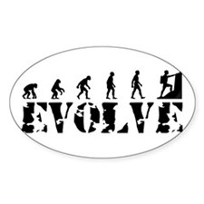 Climbing Evolution Caveman Oval Decal