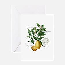 Modern Vintage Lemons Greeting Cards