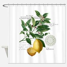 Modern Vintage Lemons Shower Curtain