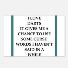 dart,darts Postcards (Package of 8)