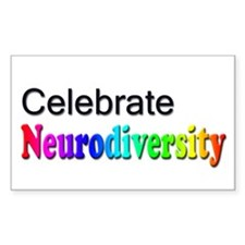 Celebrate Neurodiversity 2 Rectangle Decal