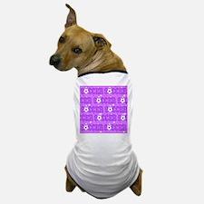 Purple Soccer Girl Dog T-Shirt