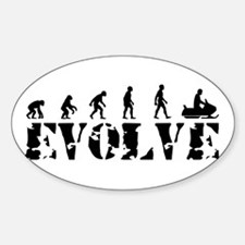 Snowmobile Evolution Oval Decal
