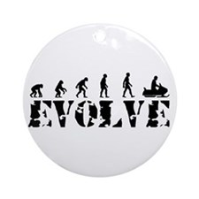 Snowmobile Evolution Ornament (Round)
