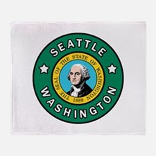 Seattle Washington Throw Blanket