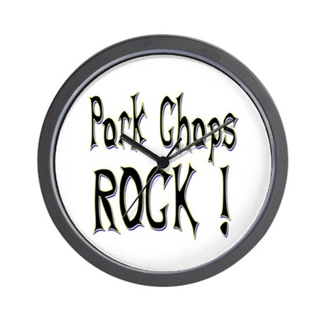 Pork Chops Rock ! Wall Clock